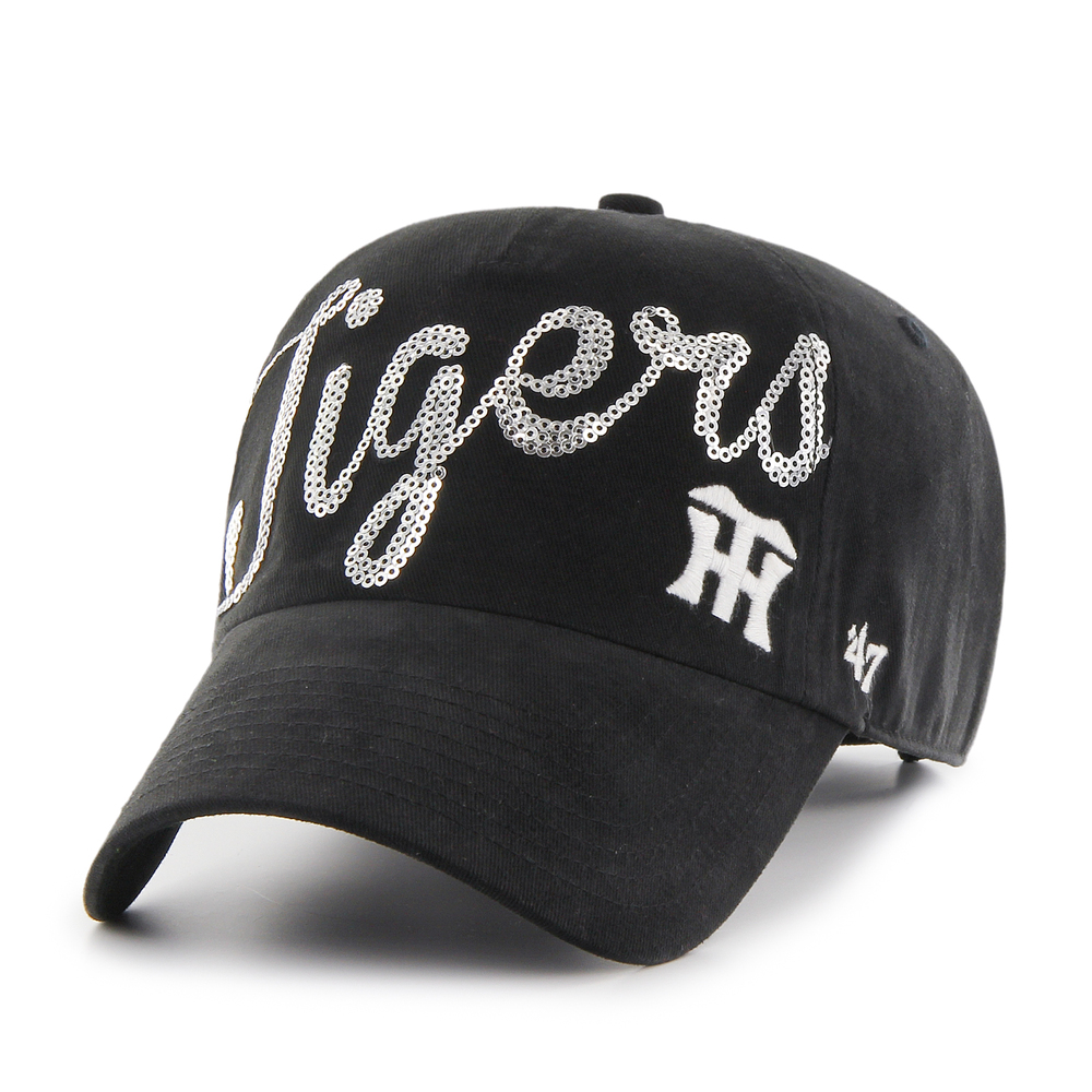Tigers Sparkle Script '47 CLEAN UP Black