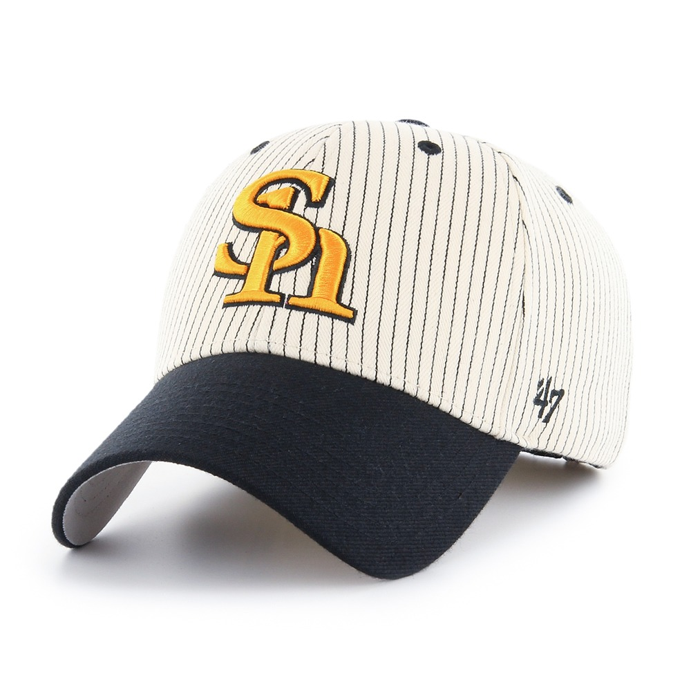 Hawks Pinstripe Homerun Two Tone '47 MVP  Black